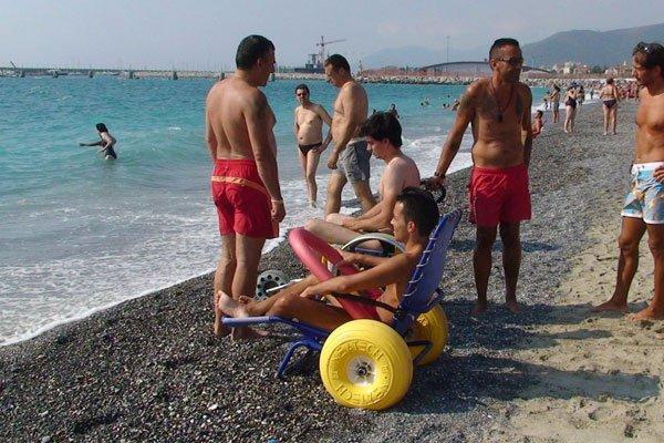 spiaggia accessibile liguria